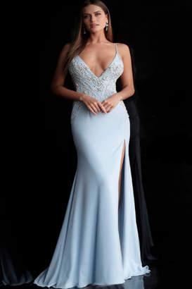 Jovani Embellished VNeck Gown