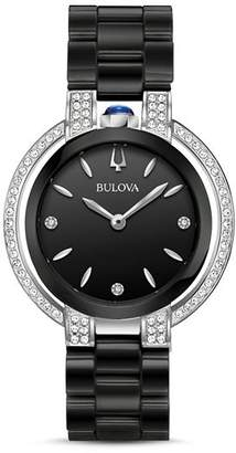 Bulova Rubaiyat Black Dial Watch, 35mm