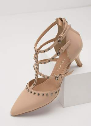 Mint Velvet Louise Nude Studded Heel
