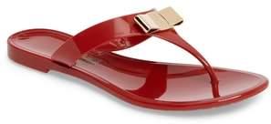 Salvatore Ferragamo Farelia Jelly Flat Bow Sandal