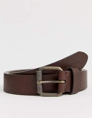 French Connection matt prong buckle belt