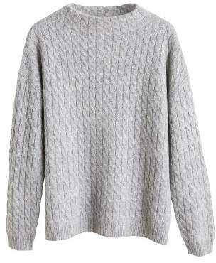 MANGO Cable-knit 100% cashmere sweater