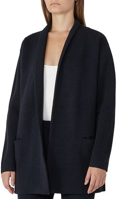 REISS Hettie Longline Drop Shoulder Cardigan $245 thestylecure.com