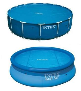 Intex Pools Solar Pool Cover For 12Ft Inflatable & Metal Frame Pools