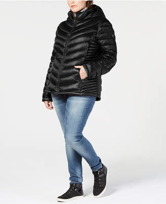 Calvin Klein Plus Size Hooded Down Puffer Coat