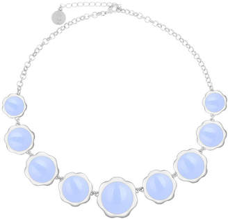 Liz Claiborne Womens Purple Flower Collar Necklace