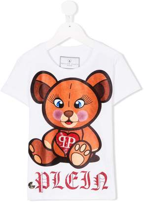 Philipp Plein Junior embellished teddy bear print T-shirt