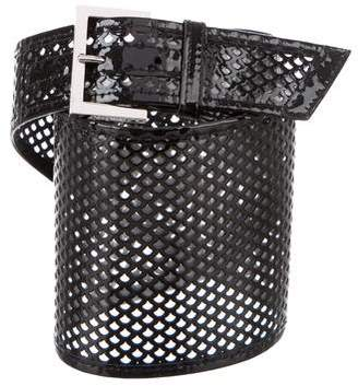 Fendi Perforated Wide Belt