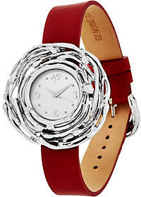 Hagit Sterling Silver Leather Wrist or PendantNest Watch