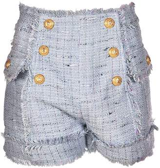 Balmain Nautical Boucle Shorts
