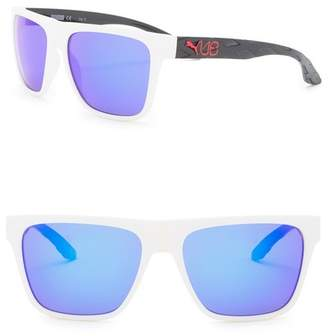 5694de4b38 Mens White Frame Black Lens Sunglasses - ShopStyle