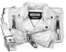 Moschino Metallic Biker Jacket Shoulder Bag