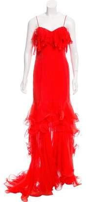 Oscar de la Renta Strapless Evening Dress