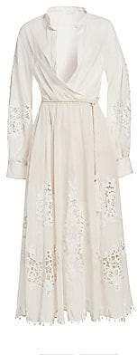Oscar de la Renta Women's Lace Detail Shirtdress