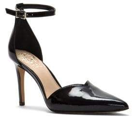 Vince Camuto Leather Ankle Strap Pumps