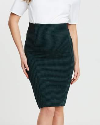 Mini Check Pencil Skirt