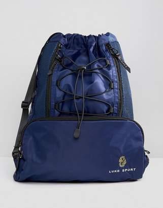 Luke Sport Flynn Drawstring Backpack In Navy