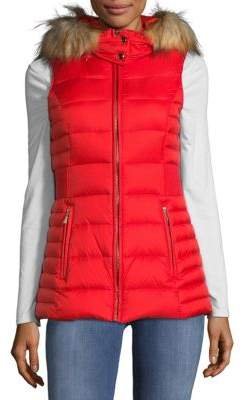 Kate Spade Hooded Faux Fur Vest
