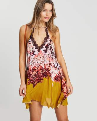 Free People Floral Haze Printed Mini Dress