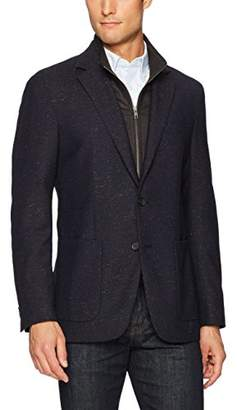 Bugatchi Men's Two Button Donegal Tweed Blazer