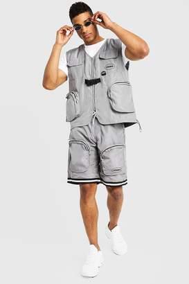 boohoo Utility Vest & Shorts Set