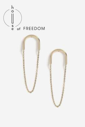 Topshop **House Of Freedom Chain Drop Earrings