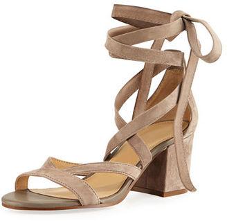 Sam Edelman Sheri Suede Ankle-Wrap Sandal $120 thestylecure.com