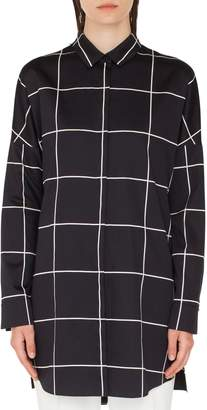 Akris Punto Grid Tunic Blouse