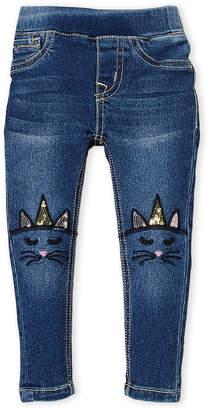 Vigoss Girls 4-6x) Unicorn Kitty Pull-On Jeans