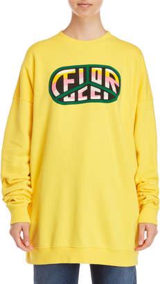 Fiorucci Yellow Peace Logo Oversized Sweatshirt