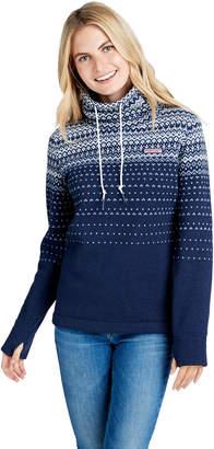 Vineyard Vines Fair Isle Sweater Fleece Relaxed Funnel Neck Shep Shirt