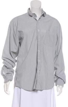 Steven Alan Striped Cotton Button-Up Top