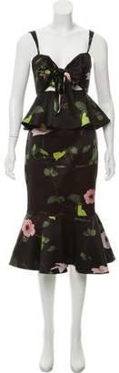 Johanna Ortiz Silk Peplum Dress