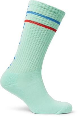Cav Empt Ribbed Cotton-Blend Socks $30 thestylecure.com