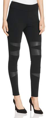 Two by VINCE CAMUTO Faux Leather Patch Leggings $79 thestylecure.com