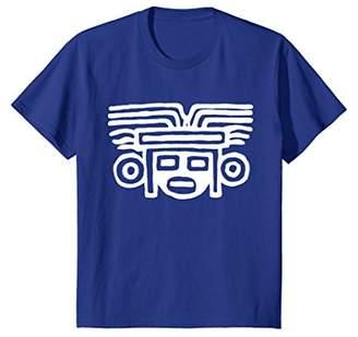 Ancient Mayan Face Mask T-Shirt. Mexican Aztec Tribal Symbol