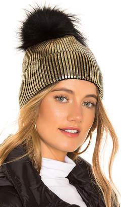Jocelyn Fox Fur Pom Beanie