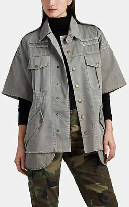 54dc9552feea9a NSF Women s Verena Washed Cotton Military Jacket - Green