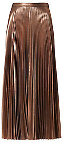 A.L.C. Bobby Metallic Pleat Skirt $645 thestylecure.com