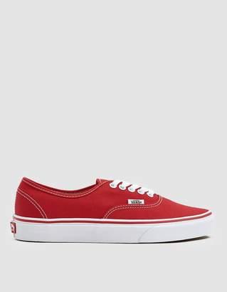 Vans Authentic Sneaker in Red