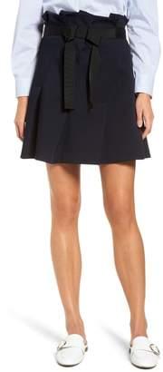 Halogen Paperbag Waist Ribbon Tie Mini Skirt