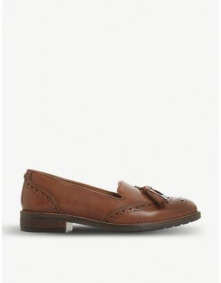 Dune Gillian tassel leather loafers