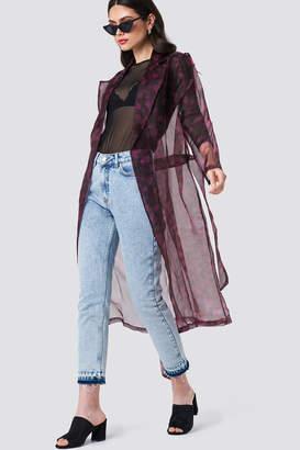 Na Kd Trend Printed Organza Coat