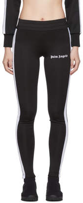 Palm Angels Black and White Track Leggings