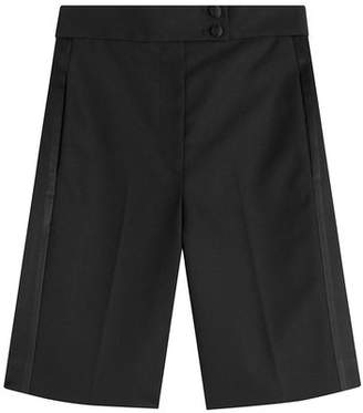 Marc Jacobs Wool-Blend Tailored Tuxedo Shorts