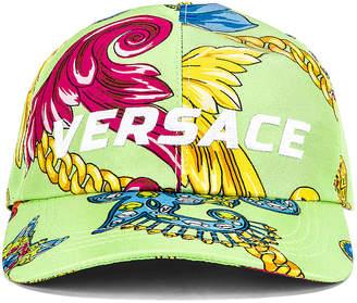 Versace Cap in Verde & Stampa   FWRD