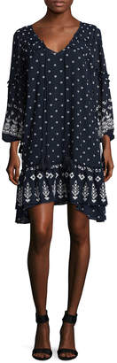 Derek Lam 10 Crosby Ruffle Drawstring Dress