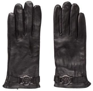 MICHAEL Michael Kors Leather Logo Gloves