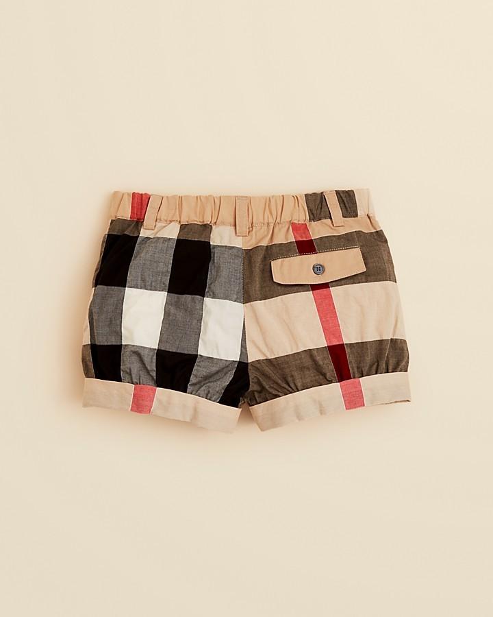 Burberry Girls' Shauna Check Cuffed Shorts - Sizes 2-3