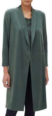 Lafayette 148 New York Open Front Silk Jacket